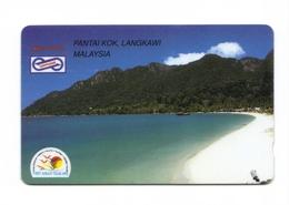 Carta Telefonica Malesia - Pantai Kok -  Carte Telefoniche@Scheda@Schede@Phonecards@Telecarte@Telefonkarte - Malaysia