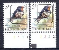 Buzin  PRE * Nr 827 P6a * Plaatnr 1 * Postfris Xx * - 1985-.. Pájaros (Buzin)