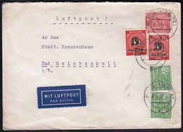 "Germany Berlin 1951 / Kolonnaden Am Kleistpark, Technische Hochschule,  Overprinted ""Allied Occupation Zone"" 5 Pf / 1949 - Cartas"