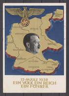 Deutsches Reich Propagandakarte, -Ein Volk Ein Reich Ein Führer-, P 268 Mit Zusatzfrankatur. Gestempelt 20.April 1938 !! - Ganzsachen