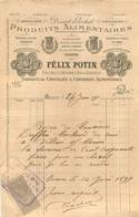 MEAUX  FACTURE 1897  FELIX POTIN 12 RUE DU GRAND CERF   DISSERT POCHET - France