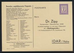 Deutsches Reich Privatganzsache PP 158 Dr. Zipp Idar Nahe DV 1855 2 I 0359 - Germany