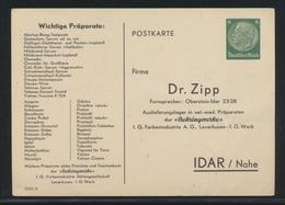 Deutsches Reich Privatganzsache PP 127 036 Aber DV 2550 0 Bei Frech - Germany