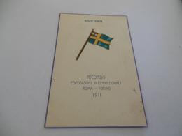 RICORDO ESPOSIZIONI INTERNAZIONALI ROMA TORINO 1911 SVEZIA - Expositions