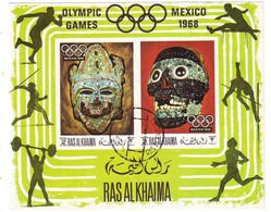 RAS AL KHAIMA 347-348,used,unperforated - Sommer 1968: Mexico