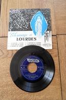 Disque 45 Tours Dans Sa Pochette  D Origine :Pèlerinage à Lourdes  Année 1958 - 45 T - Maxi-Single