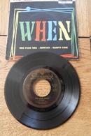 Disque 45 Tours Dans Sa Pochette  D Origine : The Kalin Twins  '' When ''  Années 1955/60 - 45 T - Maxi-Single