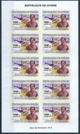 B8703 Guinea 2007 Summer Olympic 1912 Stockholm Athlete Mi4549B Imperf Sheet Of 10 Stamps - Sommer 1912: Stockholm