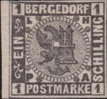 Bergedorf    .    Michel     .  2  .  Signiert  (2 Scans)   .      *   .   Ungebraucht Mit Gummi  . /   .    Mint-hinged - Bergedorf