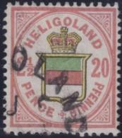 Heligoland   .    Michel     .    18       .      O      .   Gebraucht . /   .    Cancelled - Helgoland