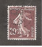 Perforé/perfin/lochung France No 139 C.B. Cie De Béthune - Gezähnt (Perforiert/Gezähnt)