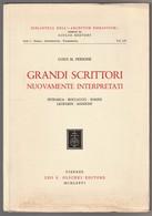 GRANDI SCRITTORI NUOVAMENTE INTERPRETATI: PETRARCA, BOCCACCIO, PARINI, LEOPARDI, MANZONI - Bibliographien