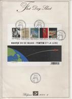 FDS First Day Sheet 2004-6 Kuifje Op De Maan - OCB  BL 109 - Bélgica