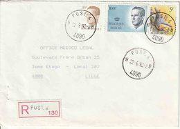 """BSD / FBA : RECOM Bf PZ (B)  135 Fr ""POST. 4 / B B / 22.6.92 / 4090""  (POST. 4 =WESTHOVEN - 3 Genie) - Postmark Collection"