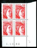 Lot C895 France Coin Daté Sabine N°2102 (**) - 1980-1989