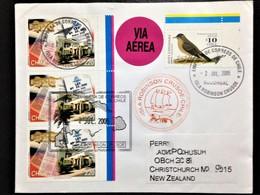 "Chile, Isla Robin Crusoe, Circulated Cover To New Zealand, ""Ships"", ""Fauna"", ""Birds"", 2005 - Chili"