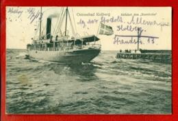 1067 SHIP OCEAN LINER '' BORNHOLM '' VINTAGE POSTCARD USED - Ships