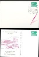 DDR PP18 D2/017 Privat-Postkarte FEHLDRUCK OHNE ZUDRUCK Halle-Neustadt Sost.1988 - [6] Oost-Duitsland