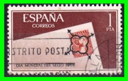 ESPAÑA –  SELLO  AÑO 1966 DIA MUNDIAL DEL SELLO - 1961-70 Usados