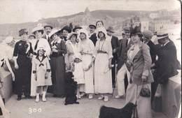 Carte Photo : Le Tréport (76) Élégant élégantes Sur La Jetée En Tenues Estivales 1912 - Le Treport