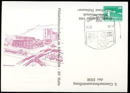 DDR PP18 D2/017 Privat-Postkarte ZUDRUCK UMGEKEHRT Halle-Neustadt Sost. 1988 - DDR