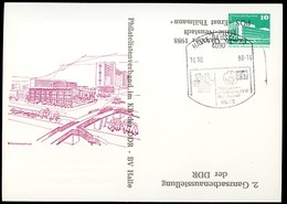 DDR PP18 D2/017 Privat-Postkarte ZUDRUCK UMGEKEHRT Halle-Neustadt Sost. 1988 - [6] Oost-Duitsland