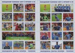 UKRAINE / Stamps / Private Club Issue. Football. FIFA. U-20. World Cup. Poland. The Ukrainian Team Is A Champion. 2019 - Ukraine