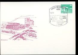 DDR PP18 D2/017 Privat-Postkarte GRAUER ZUDRUCK BLIND Halle-Neustadt Sost. 1988 - [6] Oost-Duitsland