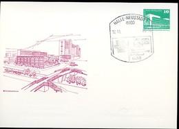 DDR PP18 D2/017 Privat-Postkarte FARBAUSFALL GRAU + ZUDRUCK BLIND UMGEKEHRT Halle-Neustadt Sost 1988 - [6] Oost-Duitsland