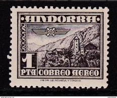 ANDORRA ESPAÑOLA 1951 - Paisaje Sello Nuevo Con Fijasellos Edifil Nº 59 - MH - - Unused Stamps