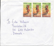 Indonesia Cover Sent To Denmark 1999 - Indonesia
