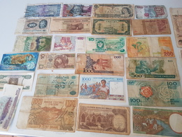 Lot De + 40 BILLETS Anciens étrangers - Münzen & Banknoten