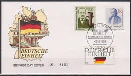 BRD FDC 1990 Nr.1477+Berlin Nr.879+DDR Nr.3364  Deutsche Einheit ( D 3118 ) Günstige Versandkosten - FDC: Briefe