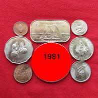 Tonga Set  1 2 5 10 20 50 Seniti 1 Paanga 1981 Unc - Tonga