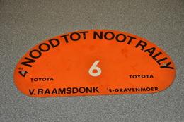 Rally Plaat-rallye Plaque Plastic: 4e Nood Tot Noot Rally Toyota Van Raamsdonk 's-gravenmoer - Rallye (Rally) Plates