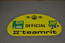 Rally Plaat-rallye Plaque Plastic: 15e Teamrit 1978 OFFICIAL RAC-zuid BP - Rallye (Rally) Plates