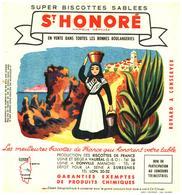 """B St H/ Buvard Biscottes St Honoré Province De France """"Corse"""" - Zwieback"""