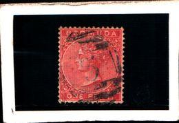 93788) BERMUDA - 1865-REGINA VITTORIA 1 P. ROSA-USATO-N.1 - 1858-1960 Colonia Britannica