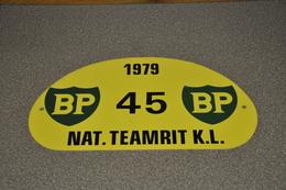Rally Plaat-rallye Plaque Plastic: Nat. Teamrit K.L. 1979 BP - Plaques De Rallye