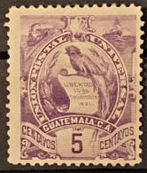 GUATEMALA 1886 - MLH - Sc# 45 - 5c - Guatemala