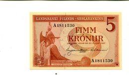 ICELAND 5 KRONUR 1957 CU 2.75 - Iceland