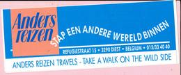 Sticker - ANDERS REIZEN TRAVELS - TAKE A WALK ON THE WILD SIDE - REFUGIESTRAAT DIEST - Pegatinas