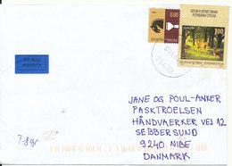 Republica Srpska (Bosnia Herzegovina) Cover Sent To Denmark Srebrenica 22-1-2014 (EUROPA CEPT Stamp) - Bosnia And Herzegovina