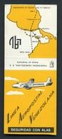 MATCHBOOK : LINEA AEROPOSTAL VENEZOLANA / FOSFORERA VENEZOLANA - Luciferdoosjes