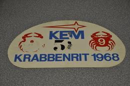 Rally Plaat-rallye Plaque Plastic: Krabbenrit 1968 Krabbenrijders KEM - Rallye (Rally) Plates