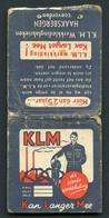 MATCHBOOK : KLM - KAN LANGER MEE - Boîtes D'allumettes