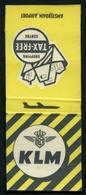 MATCHBOOK : KLM - ROYAL DUTCH AIRLINES - AMSTERDAM INTERNATIONAL AIRPORT - TAX FREE SHOPPING CENTRE - Boîtes D'allumettes