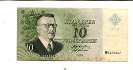 FINLAND 10 MARKKAA 1963 VF 2.75 - Finland