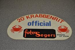 Rally Plaat-rallye Plaque Plastic: 20e Krabbenrit Krabbenrijders OFFICIAL Foto Segers Bergen Op Zoom - Rallye (Rally) Plates