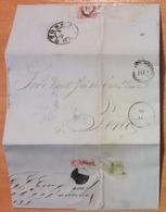Portugal - COVER - Stamp: 25 Reis D. Pedro V - Cancel: Porto + 102 + 193 ? + ? - 1855-1858 : D.Pedro V